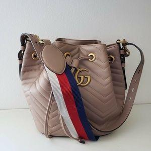 Gucci Marmont 2.0 Matelassé Bucket Bag - Beige